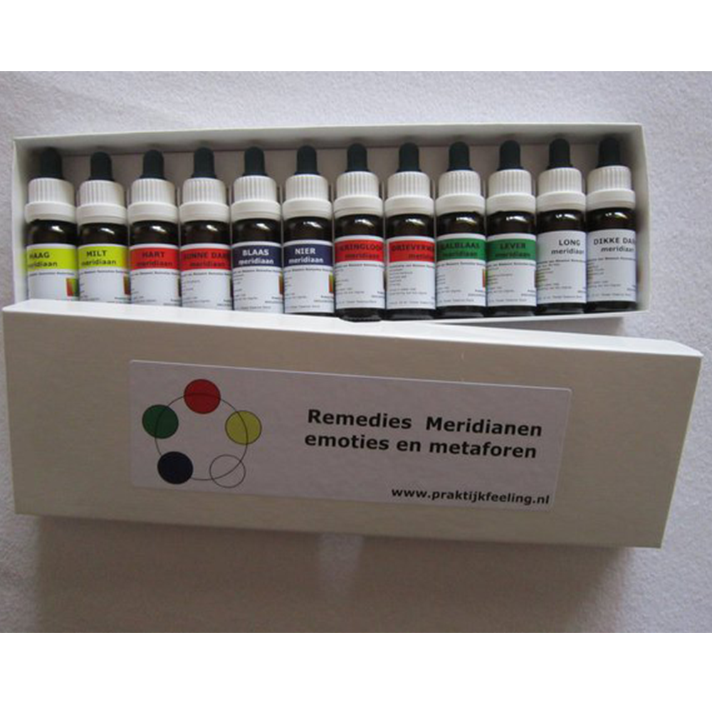 Complete Set 'Meridianen Remedies + CV/GV Meridiaan Remedies + Lüscher Kleuren Remedies'